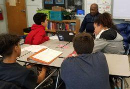 GW students taking oral history of community volunteer