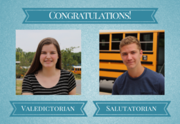 Congratulations! Valedictorian and Salutatorian