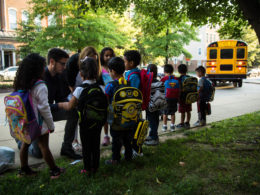 Tucker students on their first day of school.