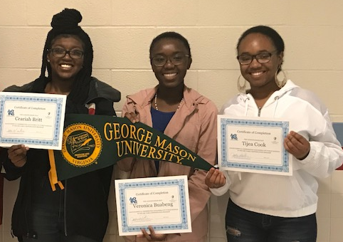 T.C. Williams Seniors and EIP graduates Ceairah Britt, Veronica Buabeng, and Tijea Cook