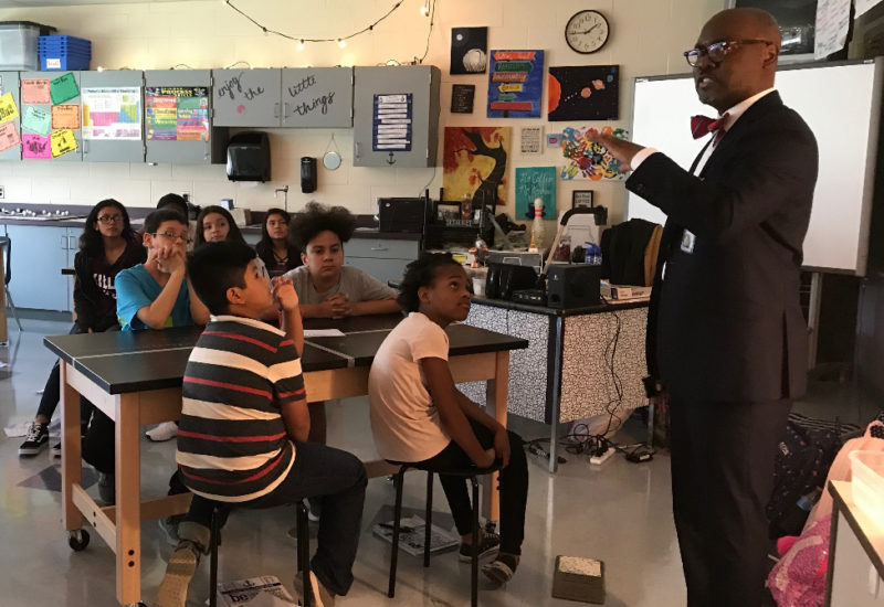 Dr. Hutchings in classroom
