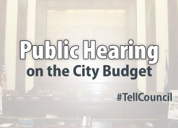 Graphic advertising the public hearing