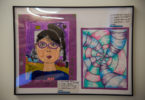 student artwork - portrait and abstract