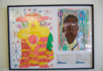 student artwork - Chinese dragon and portrait of a boy