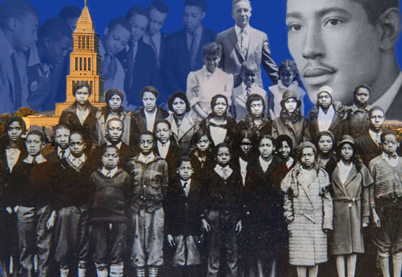 Collage of black students and leaders from Alexandria