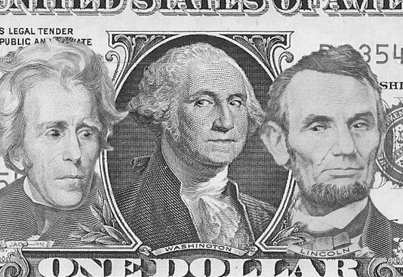 Presidents Jackson, Washington and Lincoln