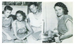 Photos of Blois Hundley and her children that appeared in a 1958 issue of Jet Magazine.