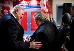 Former Congressman Jim Moran with Jack Taylor at the dedication of the Jack Taylor Career Center