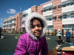 Jefferson-Houston Pre-K student on playground