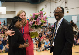 Laura Koss, Lucretia Jackson and Superintendent Crawley