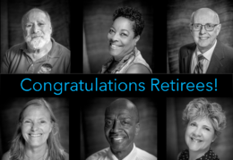 Collage of six retiree images