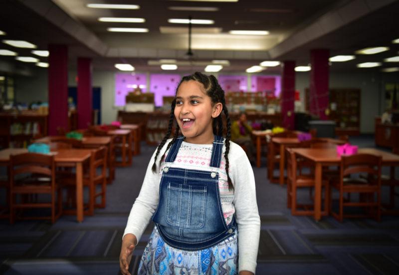 Fifth-grader Maya Belay is a member of the Cantamos ensemble
