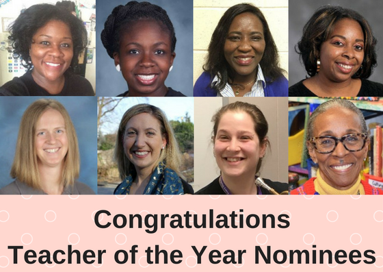 Congratulations Teacher of the Year Nominees