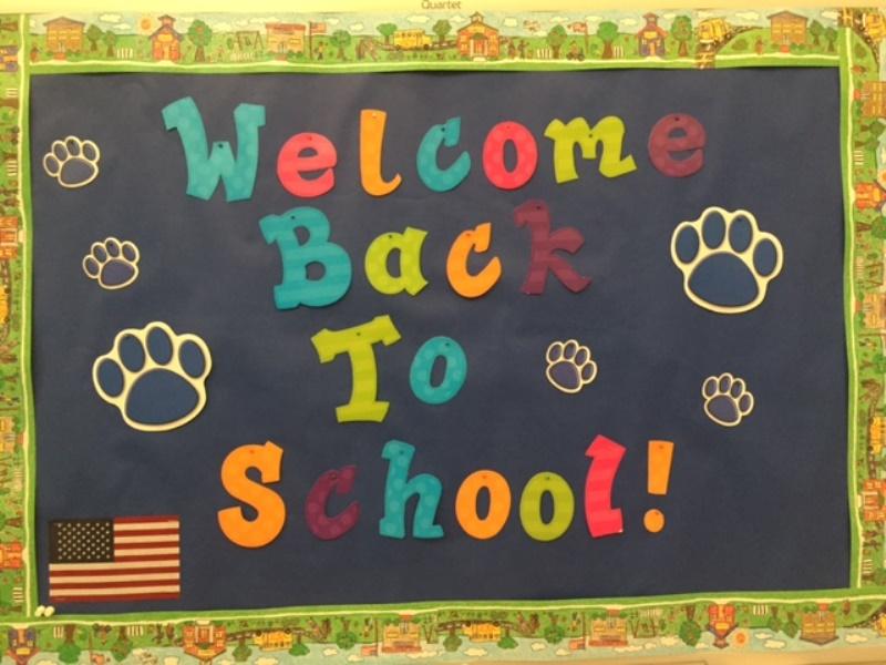 Welcoem back to school