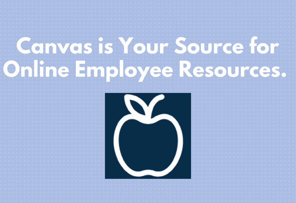 Employee resources on Canvas