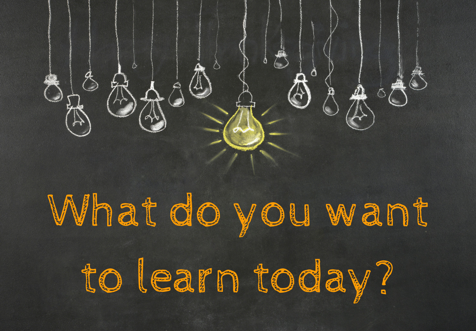 what do you want to learn today?