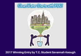 Clean Water Starts With You Design by Savannah Keough 2017