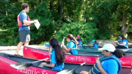 Young Scholarship on canoe trip