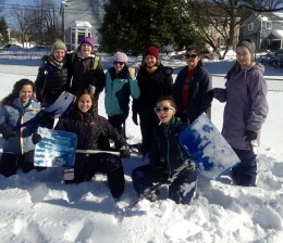 T.C. Williams Crew Snow Shoveling Fundraiser