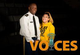 Command Sgt. Maj. William A. Jordan and Hannah Yee