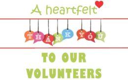 Volunteer Thank You 2016