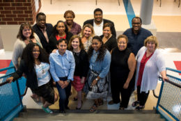 Student Services group poses for a photo