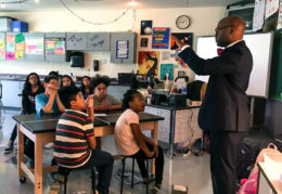 Dr. Hutchings in Hammond classroom