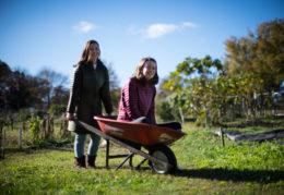 Green Challenge winners, Bridget and Ella