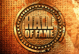 Hall of Fame written in gold