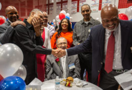 athletes come together at Hall of Fame