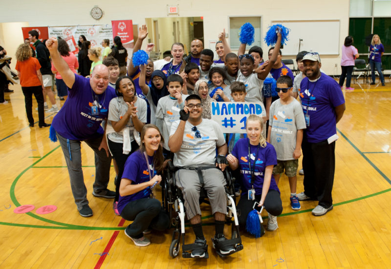 Hammond's Special Olympics team gathers for a photo