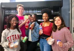students inside Titan Cafe