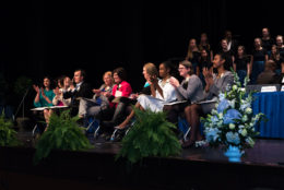 school board members on stage at TC Williams