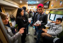 TC Students visit Wow Bus
